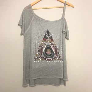 Lucky Brand - Burnout Graphic Tee